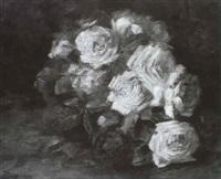 stilleben mit rosen by gabriel ahrnhardt-deiniger
