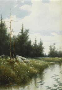 stream with trees by milne ramsey