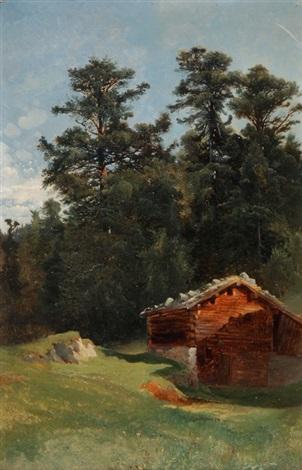 landschaft mit alphütte by alexandre calame