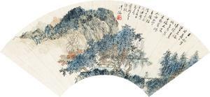 秋山问道 landscape by pu ru