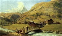il villaggio di zermatt (vallais suisse) by federico ashton