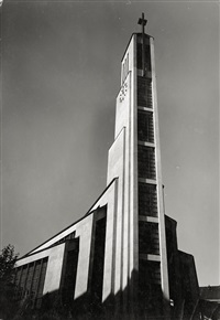 gustav-adolf-kirche von otto bartning in berlin-siemensstadt (+ another; 2 works) by emil leitner