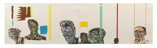 facings: black men, black women (pair) by leon golub