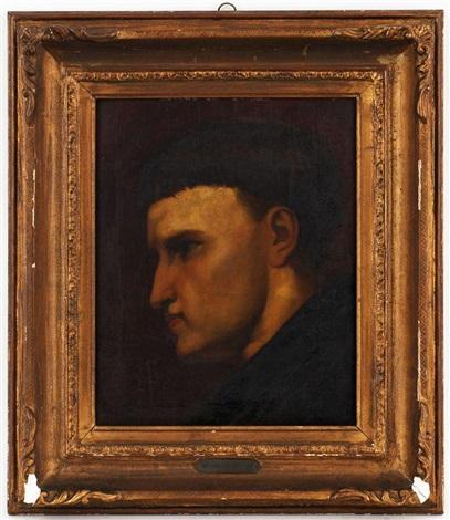 portrait dun jeune moine by ary scheffer