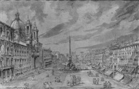die piazza navona in rom by jacob van lint