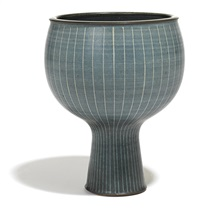footed bowl by harrison mcintosh