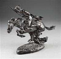 cheyenne warrior on horseback by frederic remington