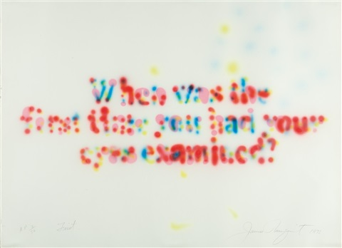 first when was the first time you had your eyes examined by james rosenquist