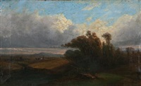 barbizon landscape by michel bouquet