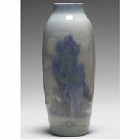 vase with landscape design by margaret h. mcdonald