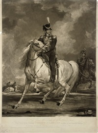hetman count platoff mounted on his favourite charger by william ward