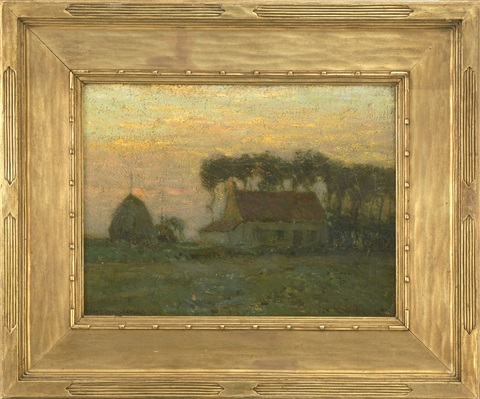 a farm at dusk by charles warren eaton