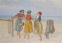 tre flickor by emil (harald emanuel) lindgren