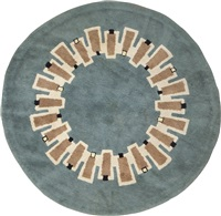 circular carpet by paule leleu