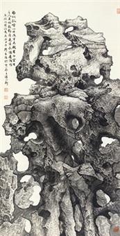湖石图 镜心 纸本 by xia hesheng