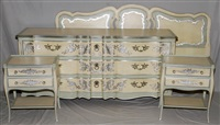 bedroom suite (5 works) by john widdicomb furniture (co.)