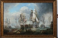 battle of trafalgar by robert trenaman back