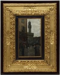 florence, piazza della signoria by giovanni lessi