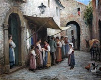 street in anticoli, spain by arthur trevor haddon