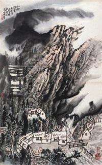 山雨欲来 (landscape) by zeng xianguo
