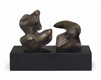 maquette for two piece reclining figure: points by henry moore
