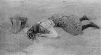 schlafendes maedchen by pierre billet