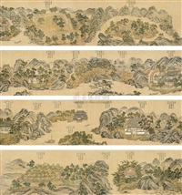 twenty views of wangchuan villa by cao kuiyin
