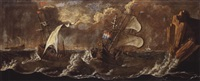 stürmische marine by franz ludwig raufft