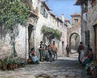 a spanish courtyard by arthur trevor haddon