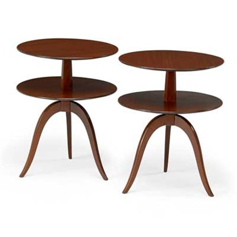 Pair Of Two Tiered Side Tables By Edward Wormley