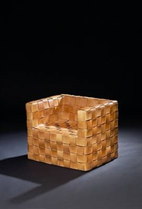 cube-shaped easy chair (prototype) by gunnar aagaard andersen
