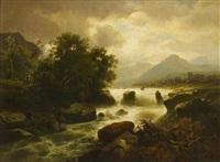 flusslandschaft in der schweiz by anton pick