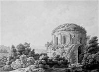 römische ruine in landschaft by johann philipp veith