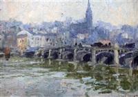 views along the seine, (2 works) by robert richmond campbell