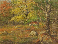 autumn landscape by theodore victor carl valenkamph