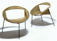 pair of easychairs by carlo santi