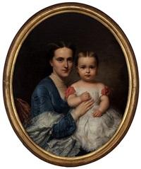 mère et enfant by franz xaver winterhalter