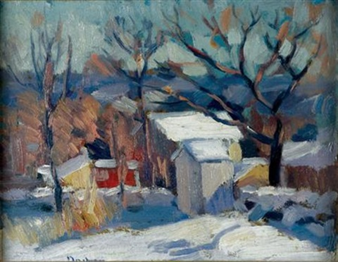 farm in winter by andrew michael dasburg