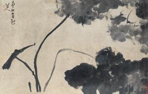 墨荷 lotus by bada shanren