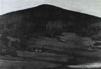 bewaldeter hugel by erich lincke
