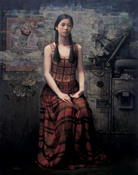 家园 (a girl) by liang feng