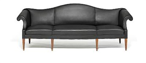three seater camelback sofa by frits henningsen