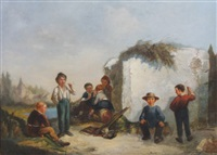 children playing by jean-charles (col.) langlois
