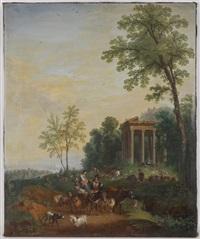 paysage de campagne animé by charles joseph auriol
