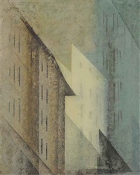 edged spaces by lyonel feininger