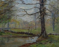 spring landscape by wells m. sawyer