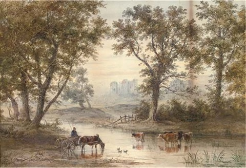 watering at dusk by henry earp