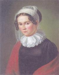 brustporträt franziska rhombergs, der ehegattin des malers by joseph anton rhomberg