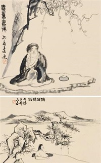 无量寿佛 (set of 2, various sizes) by da shou