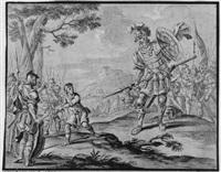 davids kampf gegen goliath by isaac fisches